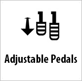 Ico adjustable pedals