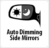 Auto-dimming side mirrors