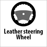 Leather steering wheel trim