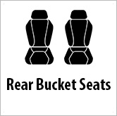Rear bucket seats