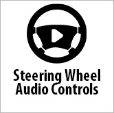 Audio controls on steering wheel